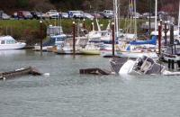 Boats capsized in Brookings