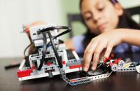 Girl builds a robotic device