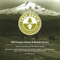 Cover of the Oregon Values and Beliefs Survey booklet