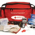 Close-up of an American Red Cross emergency kit